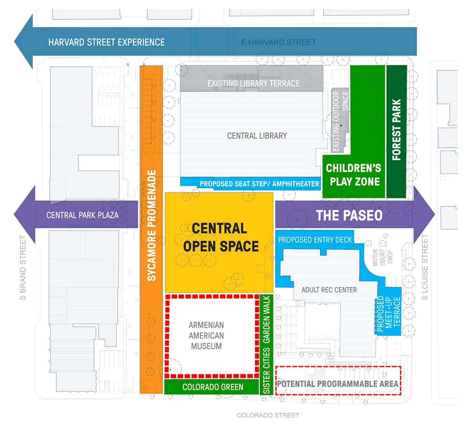 Glendale Central Park Block Concept Design Approved by City Council