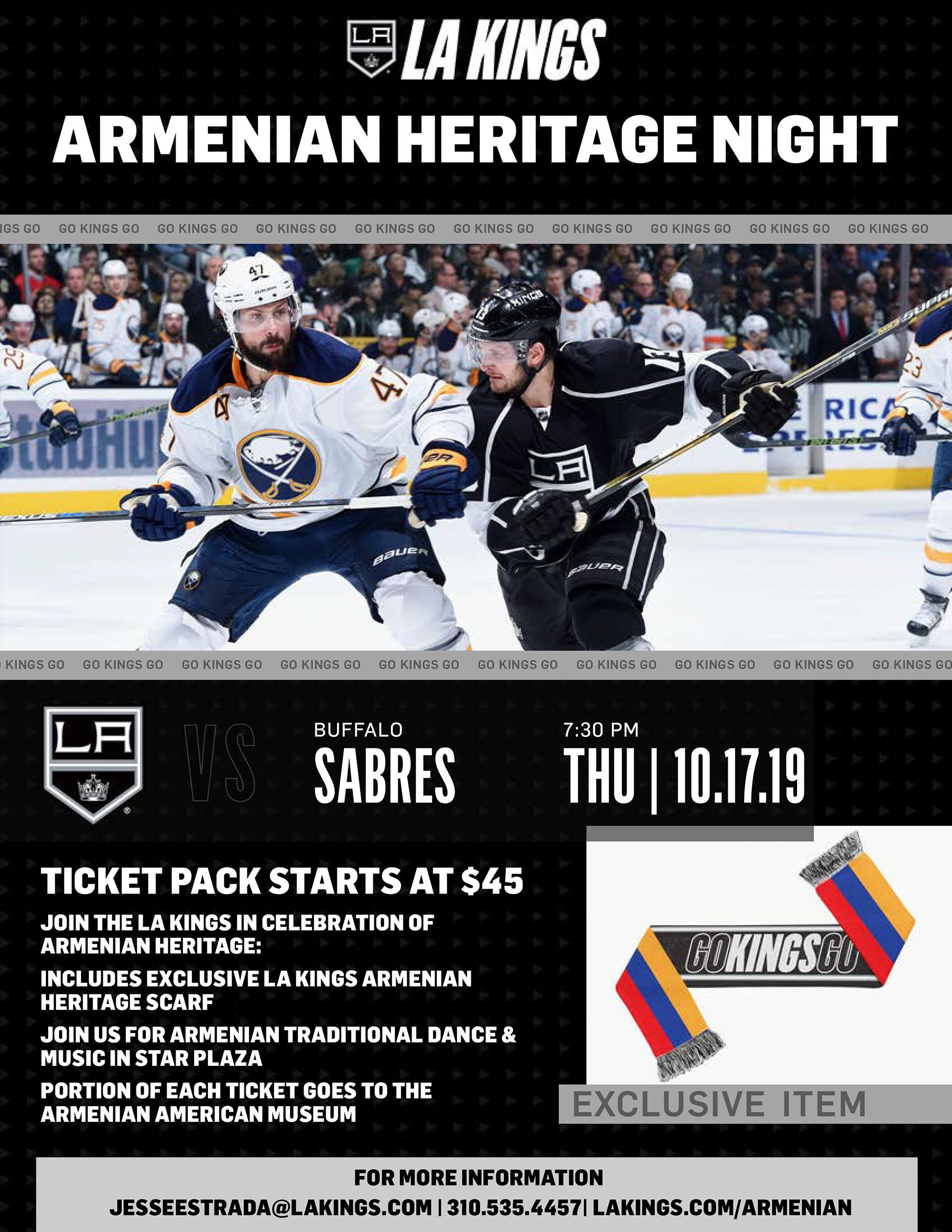 LA Kings Armenian Heritage Night Benefiting Armenian American Museum