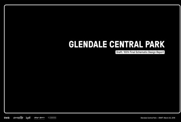 SWA Group Glendale Central Park Schematic Design 01 Report Cover