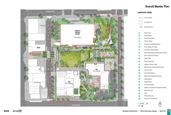 SWA Group Glendale Central Park Schematic Design 03 Overall Master Plan