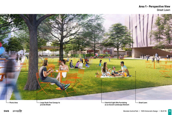 SWA Group Glendale Central Park Schematic Design 05 Great Lawn