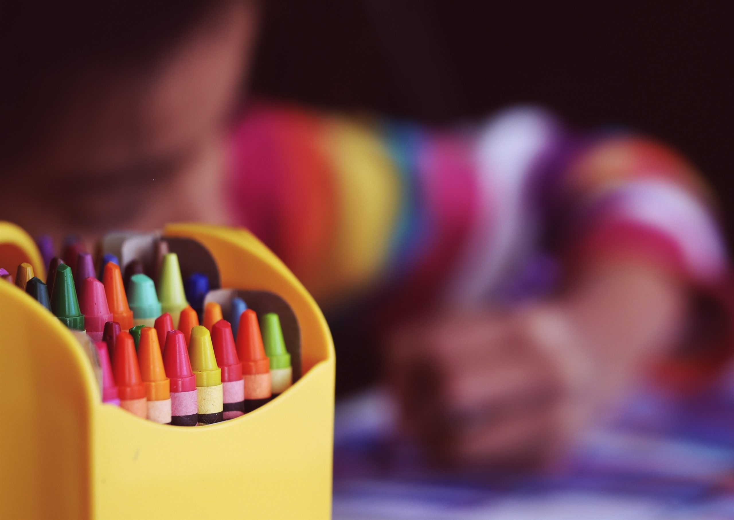 Child with crayons