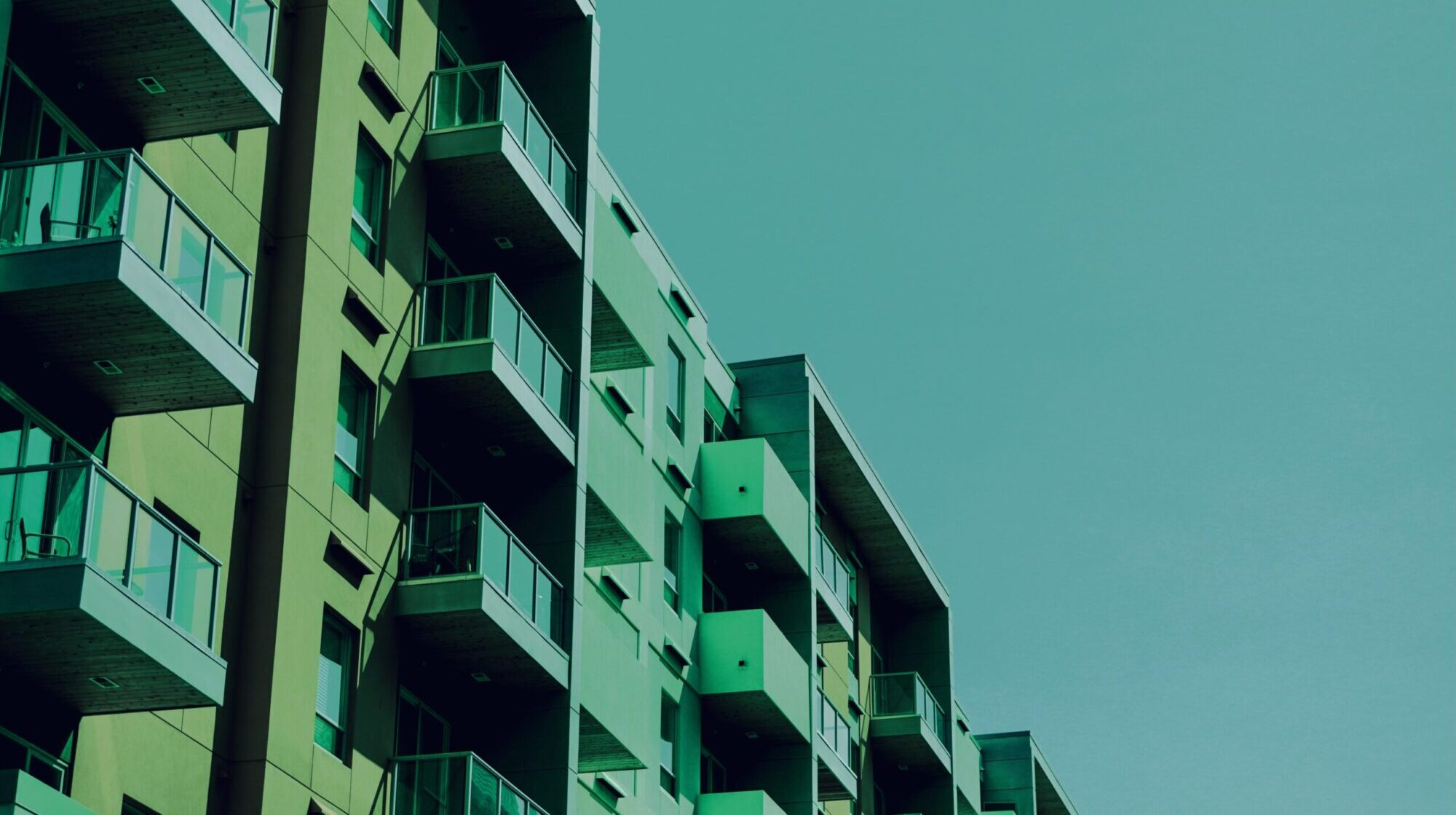 Side of apartment building
