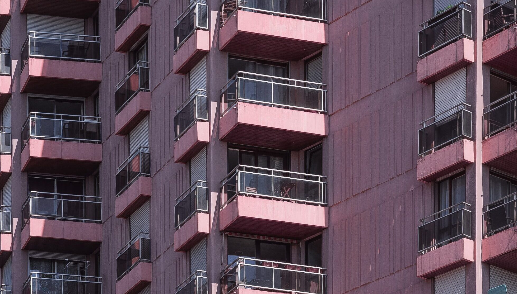 Balconies of an apartment building