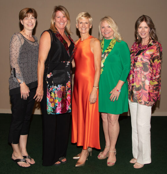Executive Committee members Tricia Gehrlein, Susan Butler, Lisa Ford and Donna Sturgeon with Lauren
