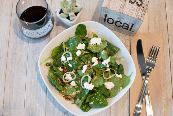 Chopped salad paired with regional vino