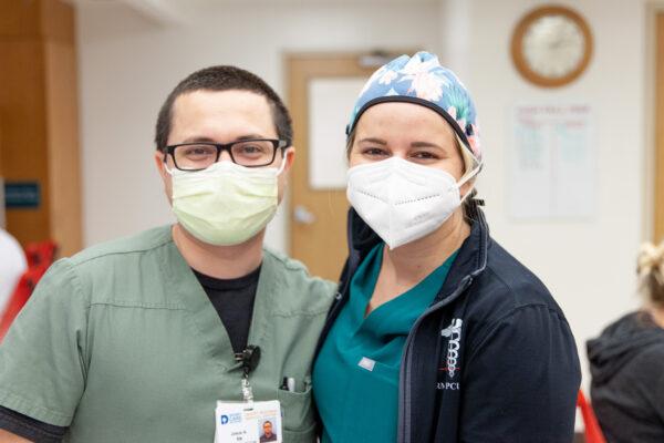 Nurses Josue Arechiga, RN and Corynn Busch, RN