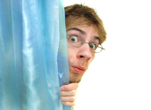 Peeking behind curtain