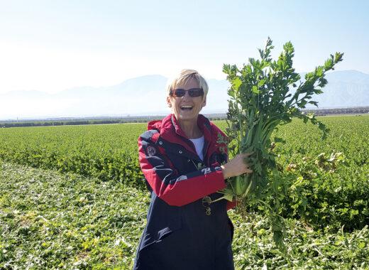 Lauren in the field