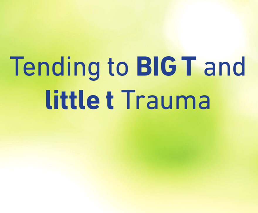 tending to BIG T and little t Trauma
