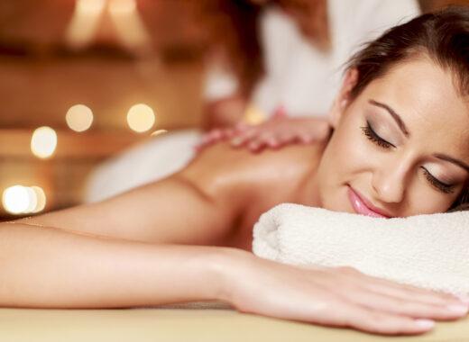 enjoying a massage