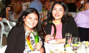 The first annual Youth award was presented to the team of Valeria Chavez and Esther Ramirez.