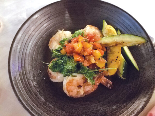 Chef Sally's healthier shrimp and grits