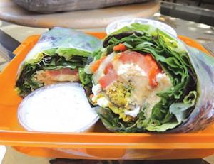 Falafel & Hummus Rice Wrap
