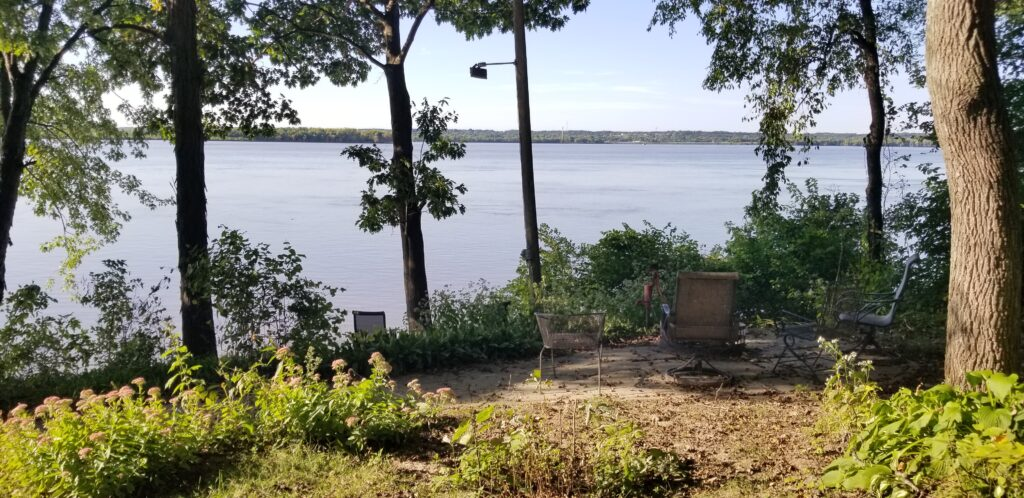 Patio along the Mississippi River
