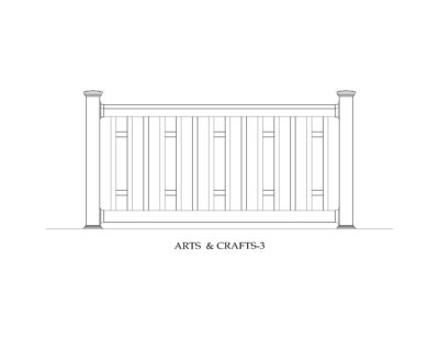 Phoenix Manufacturing Specialty Railing Designs - Arts and Crafts 3