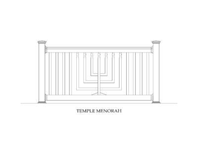 Phoenix Manufacturing Specialty Panels - Temple Menorah