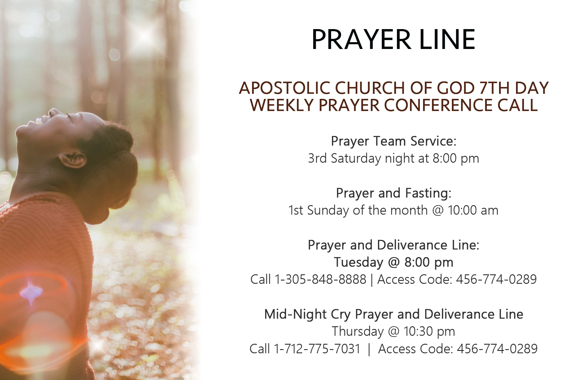 Apostolic Church of God 7th Day Prayer Ministry