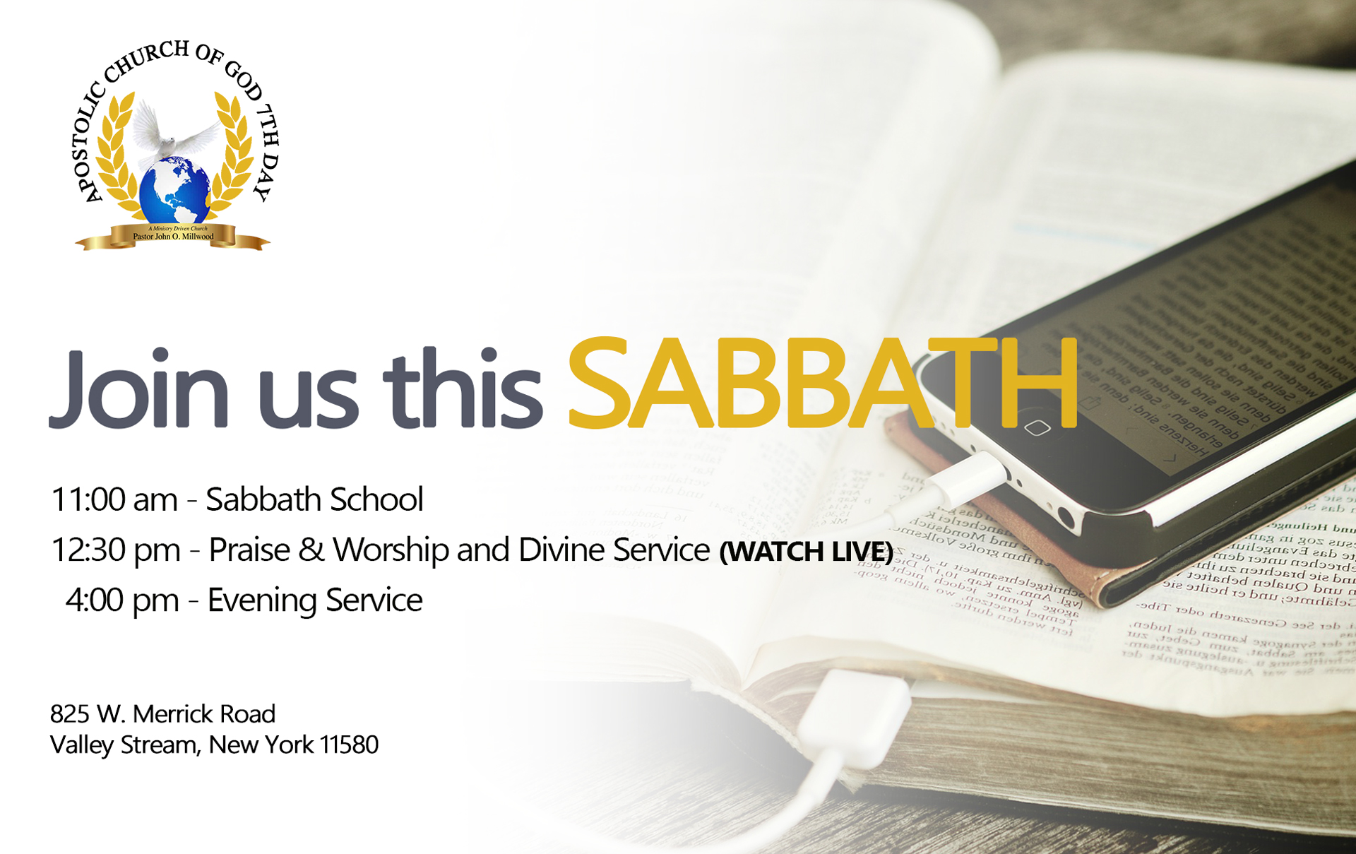 Apostolic Sabbath Services