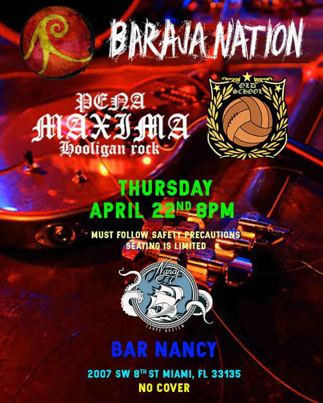 Baraja Nation at Bar Nancy - April 22 at 8PM