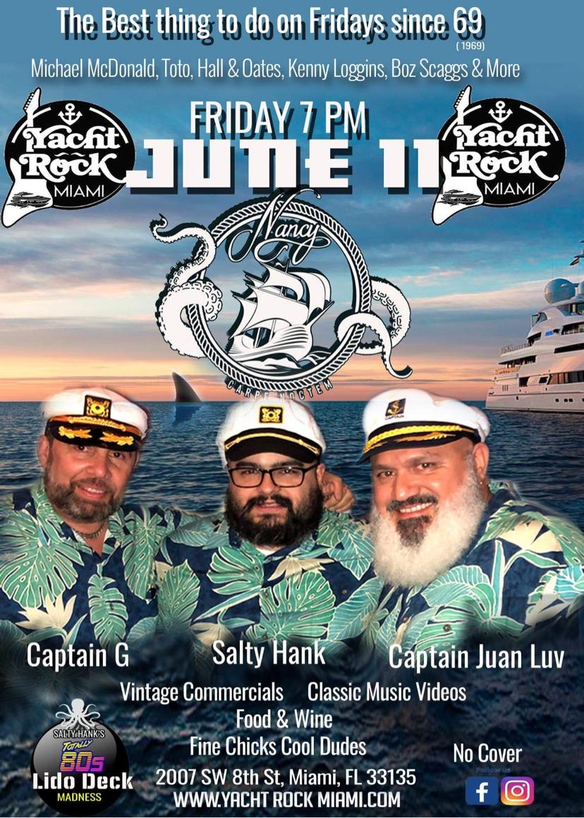 Yacht Rock at Bar Nancy June 11 at 7PM