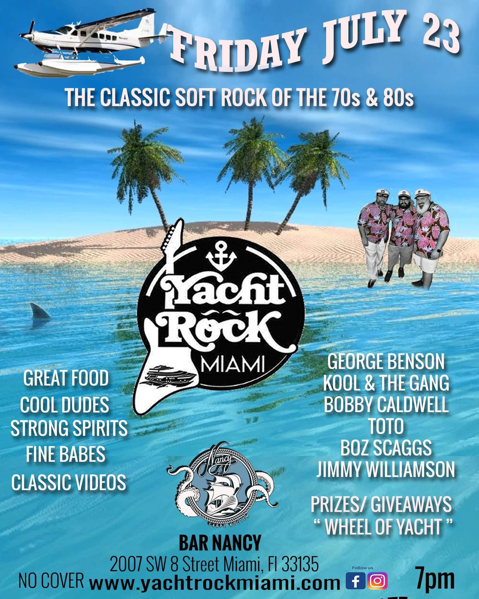 Yacht Rock at Bar Nancy July 23 at 7PM