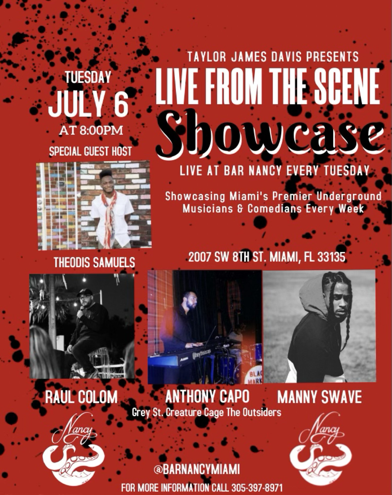 Taylor James Davis Presents - Live From The Scene Showcase at Bar Nancy every Tuesday
