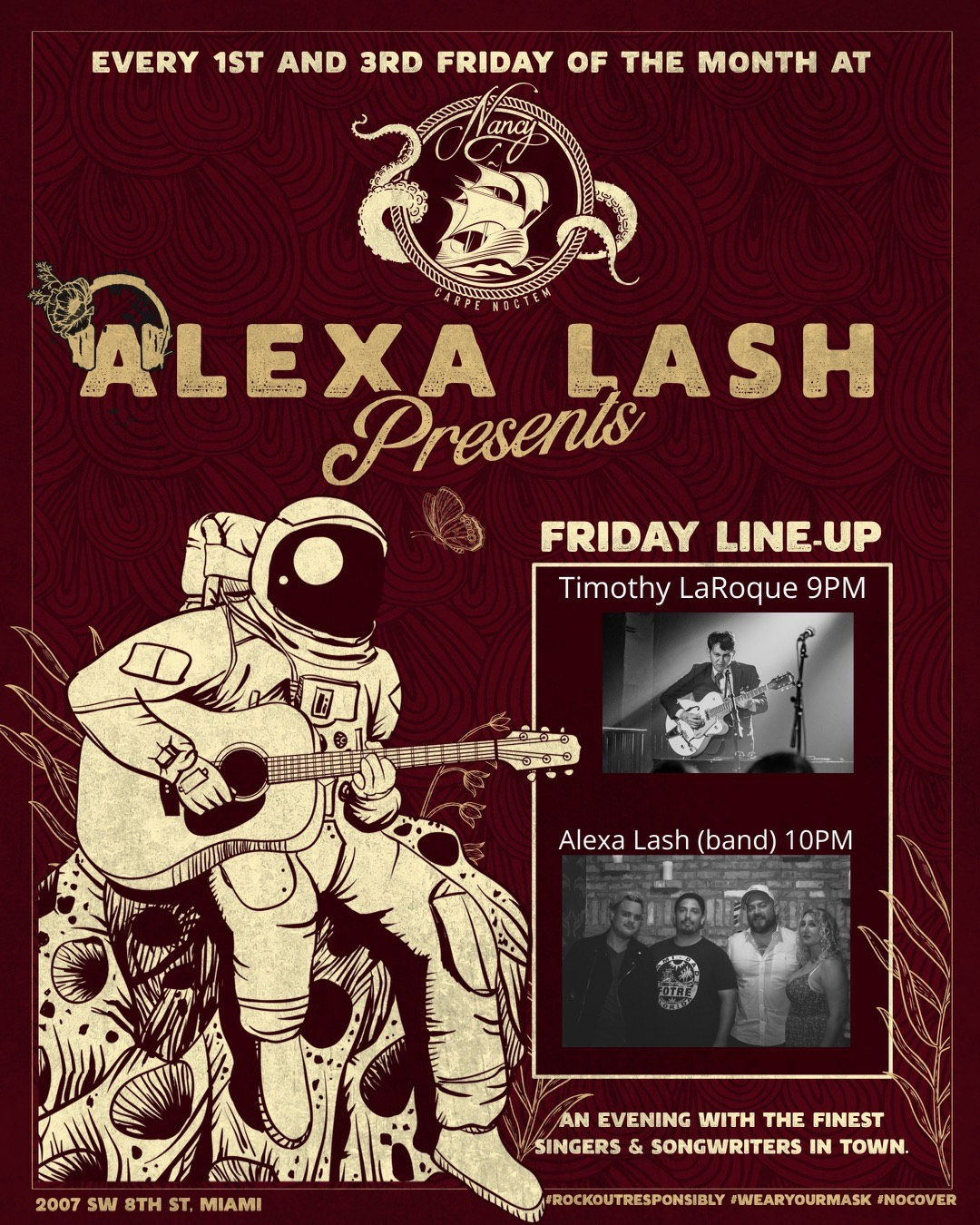 Alexa Lash at Bar Nancy every 1st and 3rd Friday of the Month