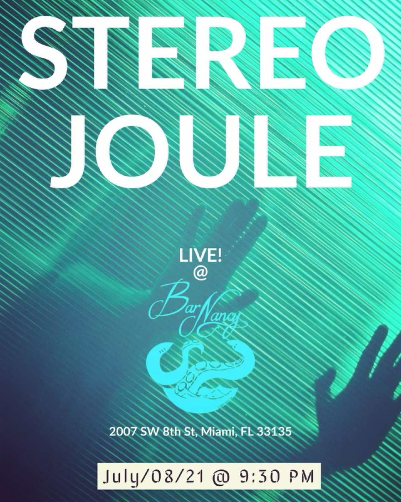 Stereo Joule at Bar Nancy July 8th @ 9:30PM