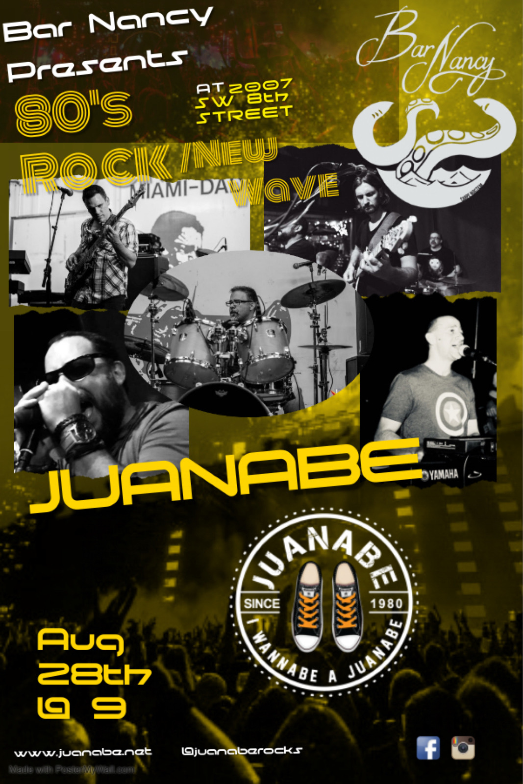 JUANABE - 80 ROCK - NEW WAVE at Bar Nancy - August 28th at 9PM