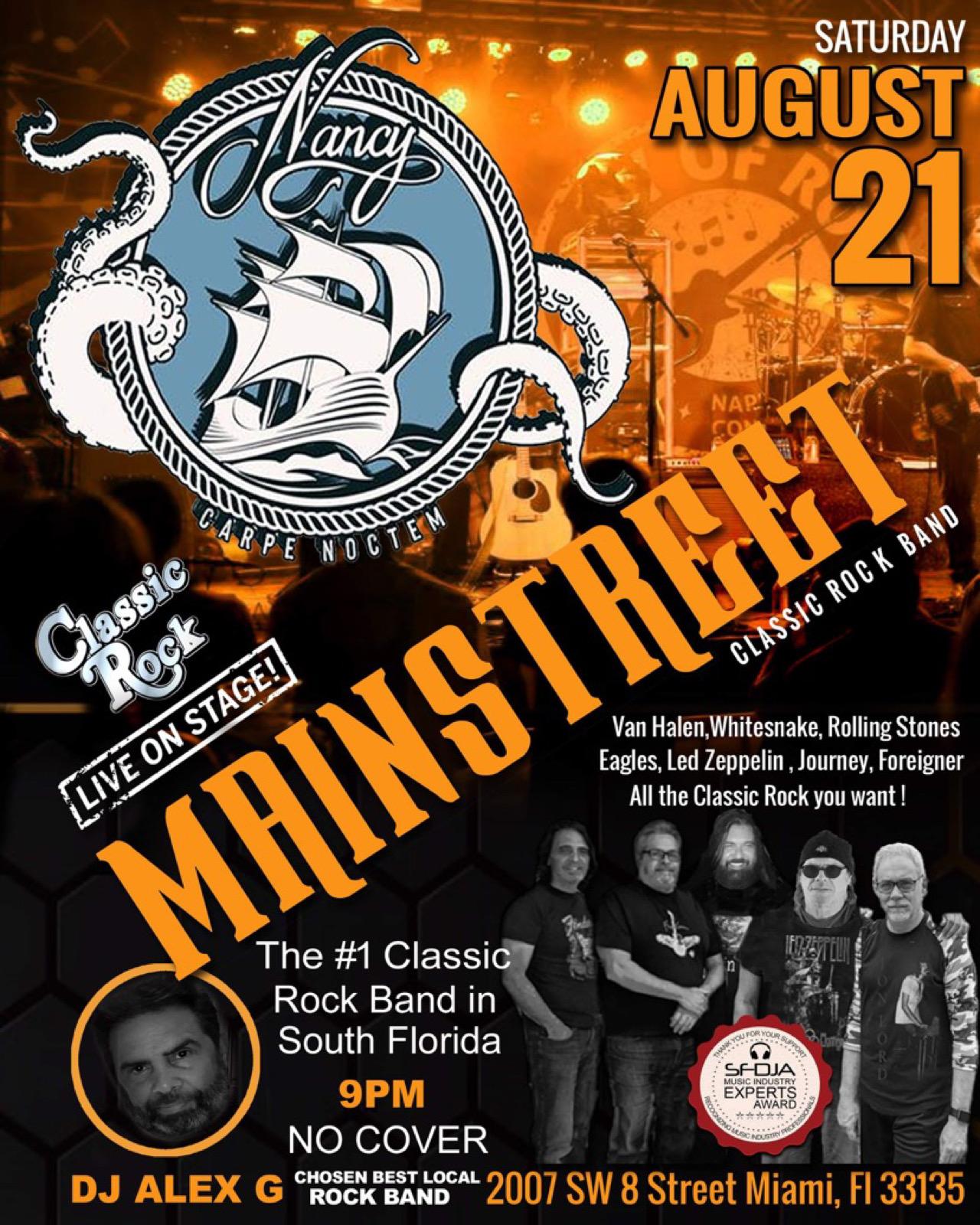 MAINSTREET at Bar Nancy August 21 - 9PM