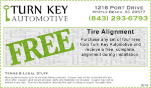 Free Wheel Alignment Coupon When You Purchase Tires in Myrtle Beach, SC