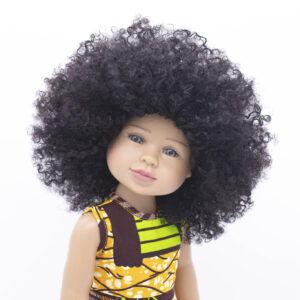 Beautiful biracial doll with natural hair