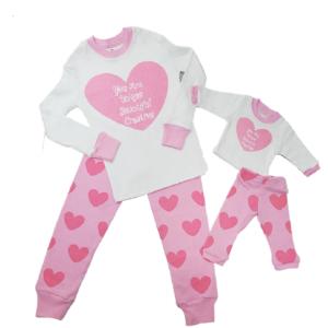 Matching girl and doll pajamas