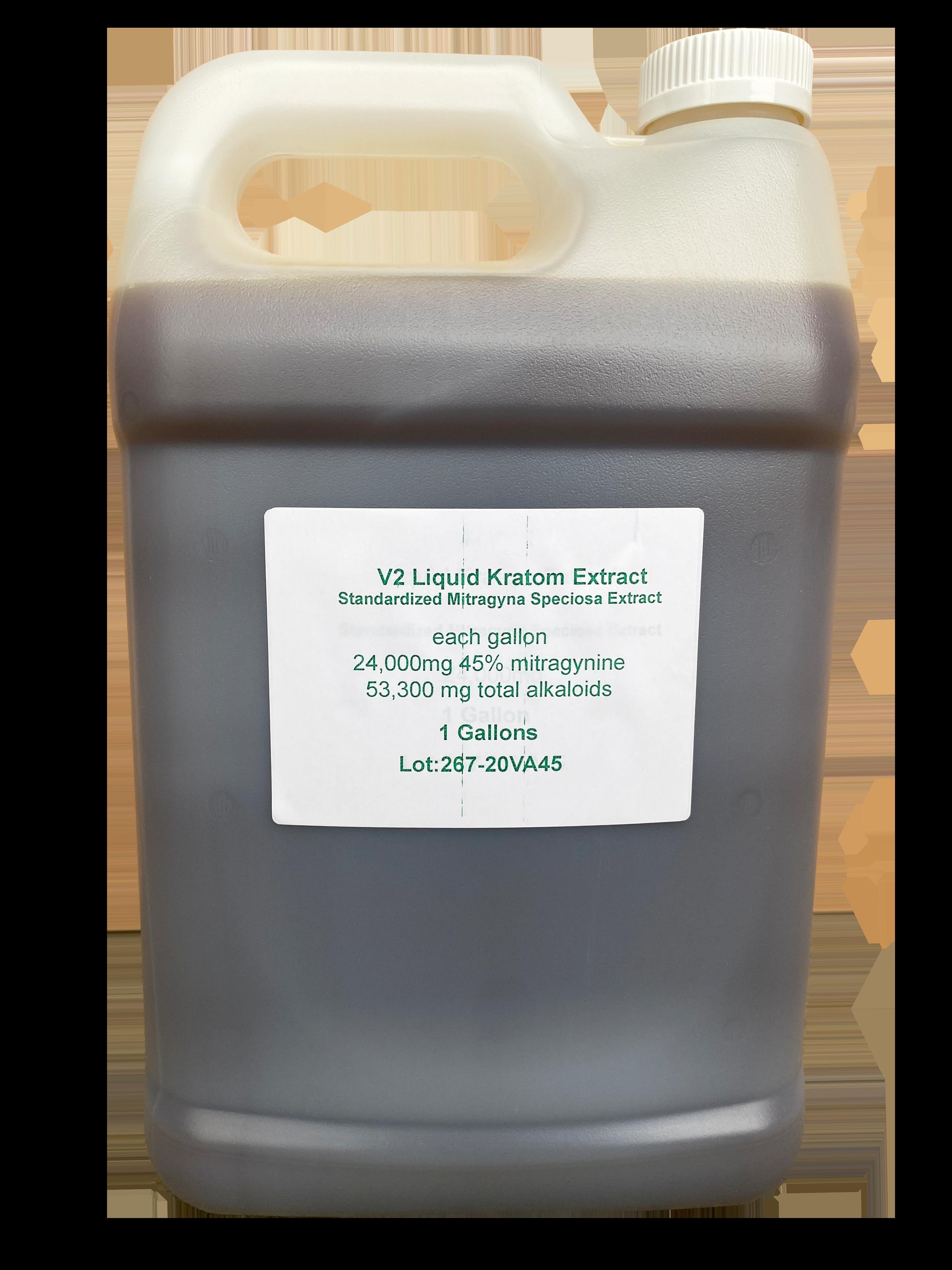 Liquid Kratom Extract 45% V2 Gallon