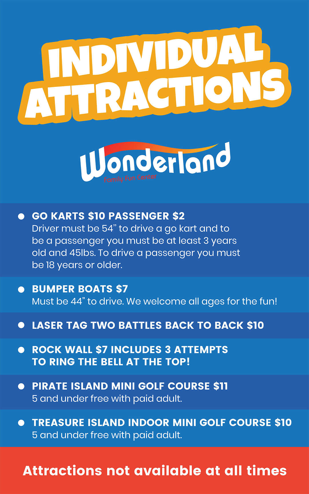 Individual attractions