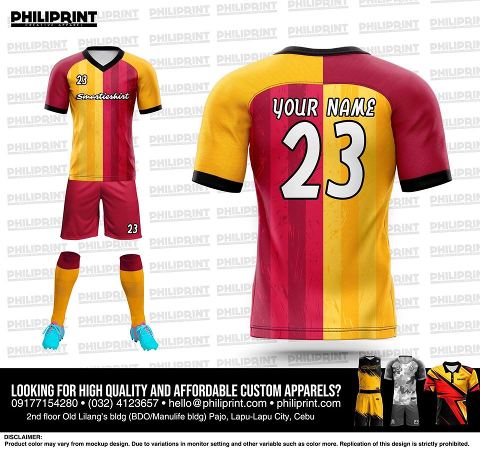 Philiprint Smartieshirt Full Sublimation Football/Soccer Jersey