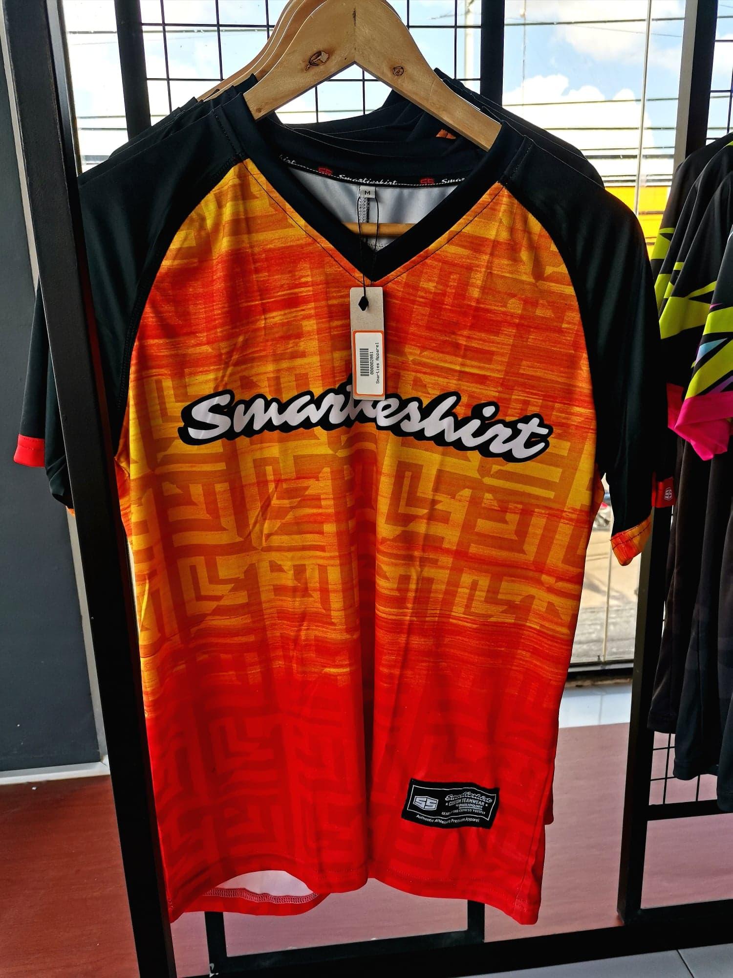 Philiprint Short Sleeves Shirt Smartieshirt Volleyball Jersey (black sleeves)