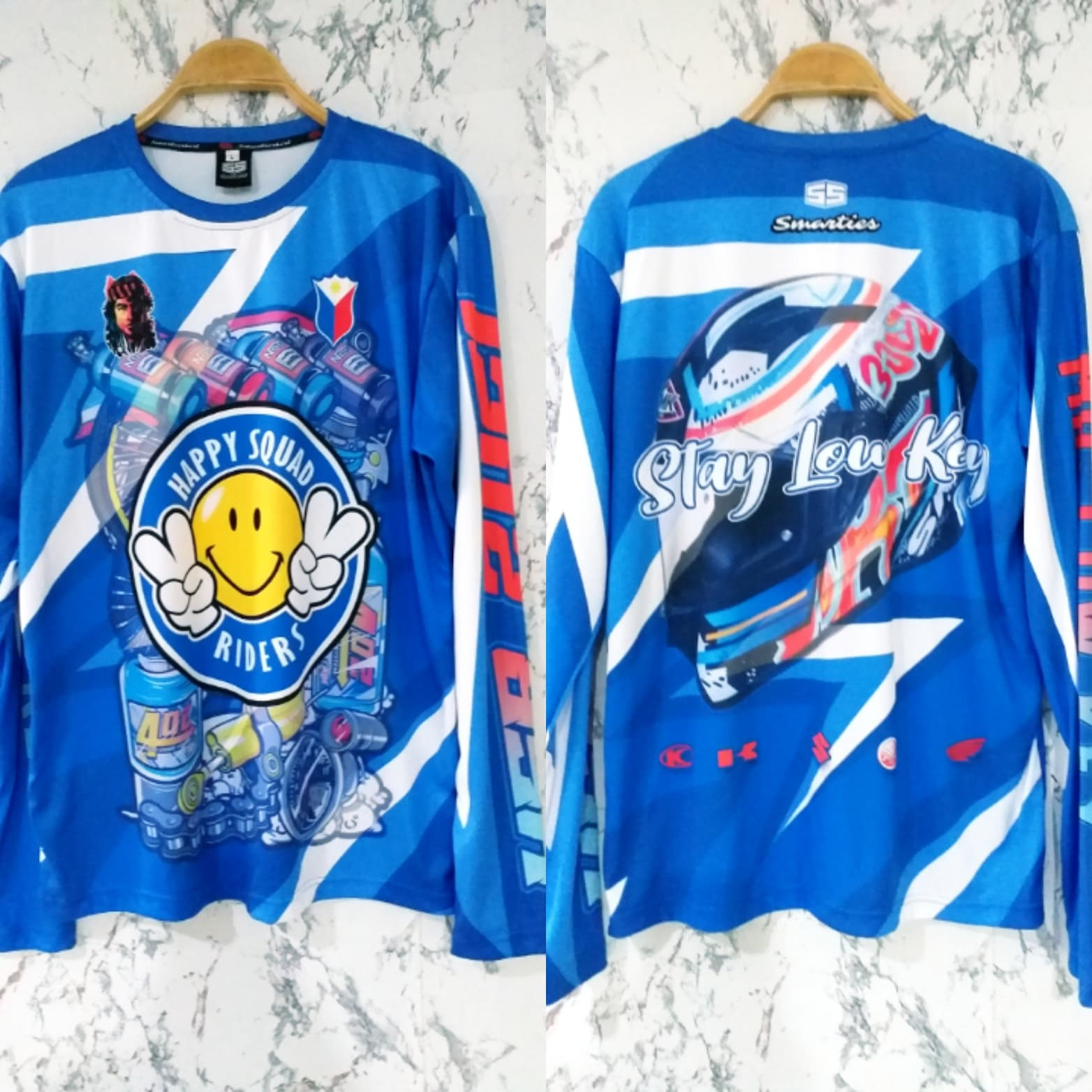 Philiprint Long Sleeves Shirt Full Sublimation Happy Squad Riders