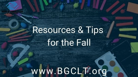 Resources and Tips for the Fall