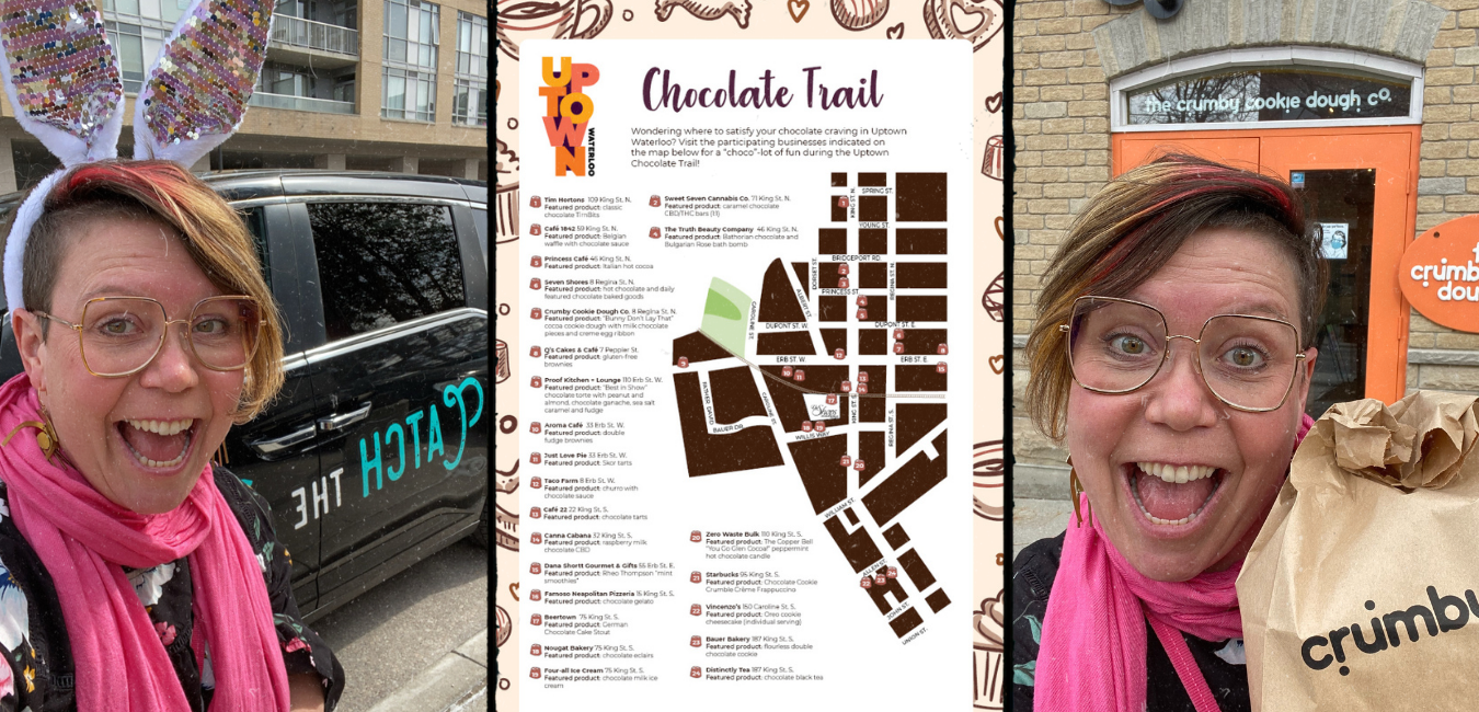 Images of enjoyment from the chocolate trail