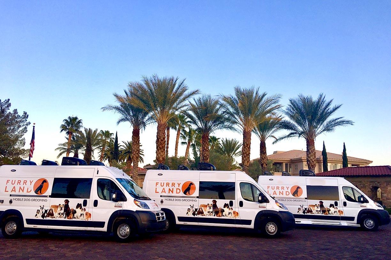 3 Furry Land Vans