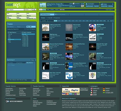 Beatport Old Interface