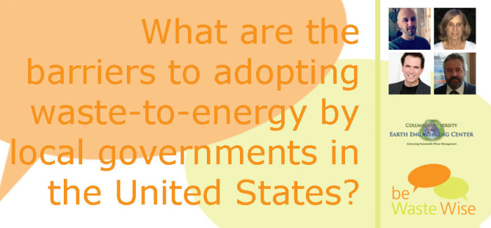 Program Barriers to Waste-to-Energy Adoption