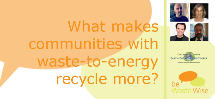Why are Recycling Rates Higher in Communities with Waste-to-Energy?