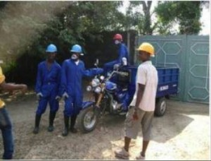 Youth group waste collection in Bo; Source: OneWorldLink