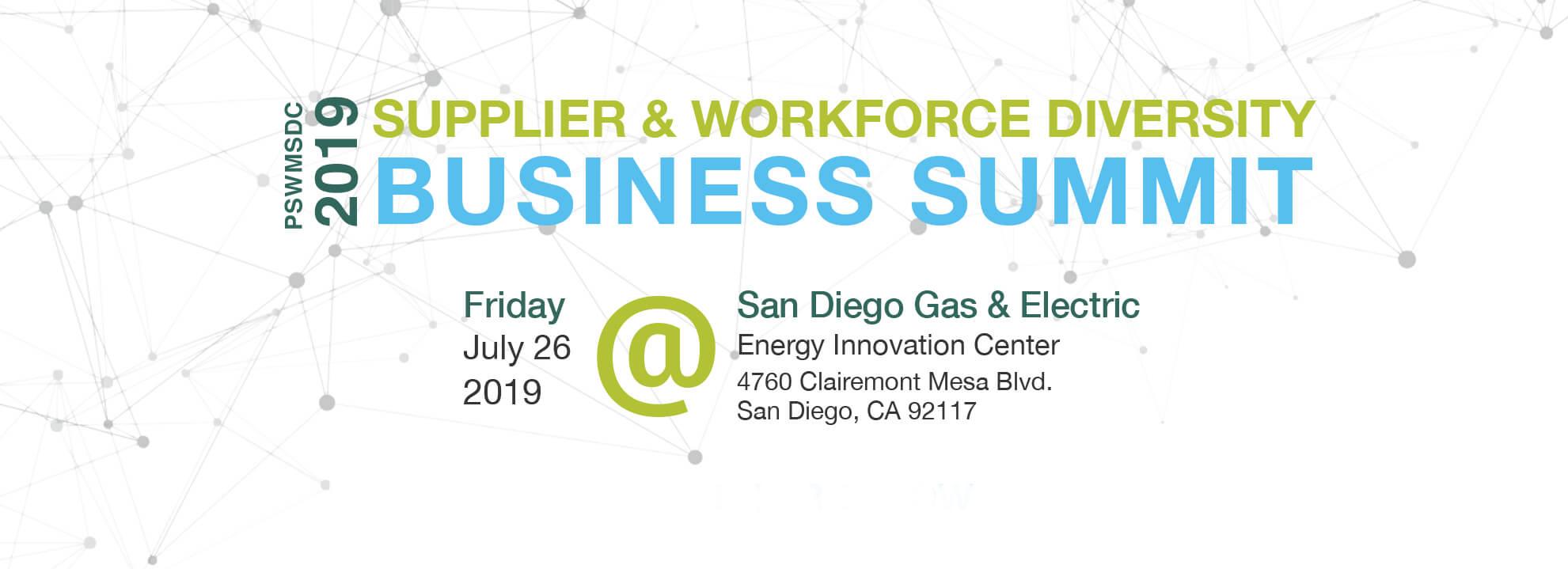 2019 Supplier & Workforce Diversity BUsiness Summit