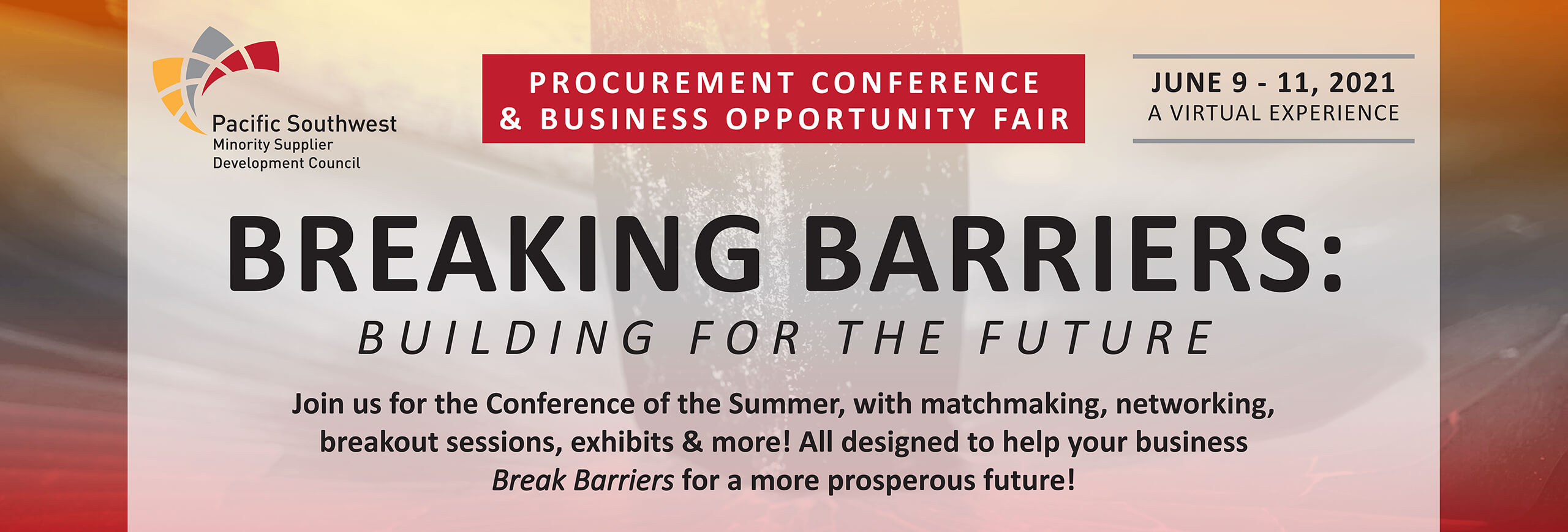 2021 Virtual Procurement Conference & Supplier Diversity Excellence Awards Ceremony Banner