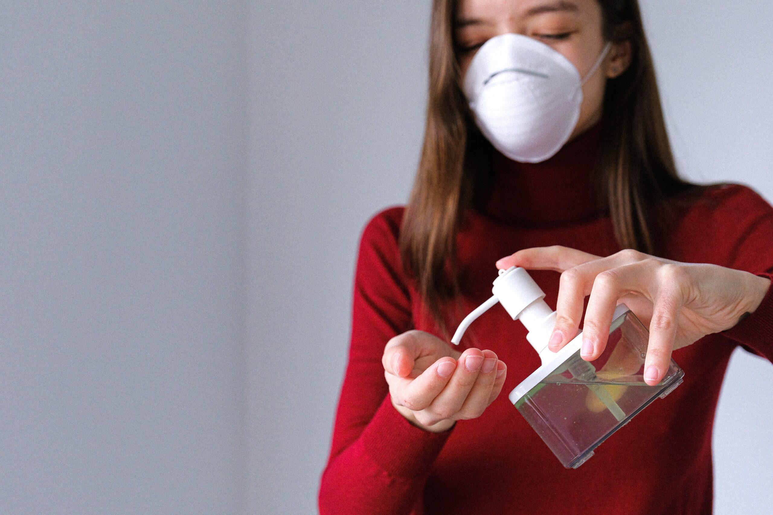 Hand sanitizer face mask