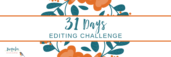 31-Day Editing Challenge